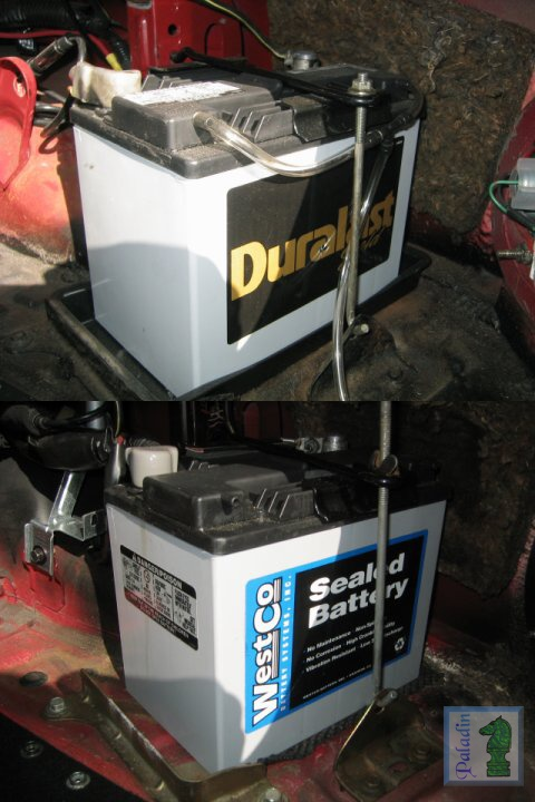 The Following Pic Is Of Autozone S Duralast 8amu1r Battery In Top Photo And Latest Version Westco 12v31m